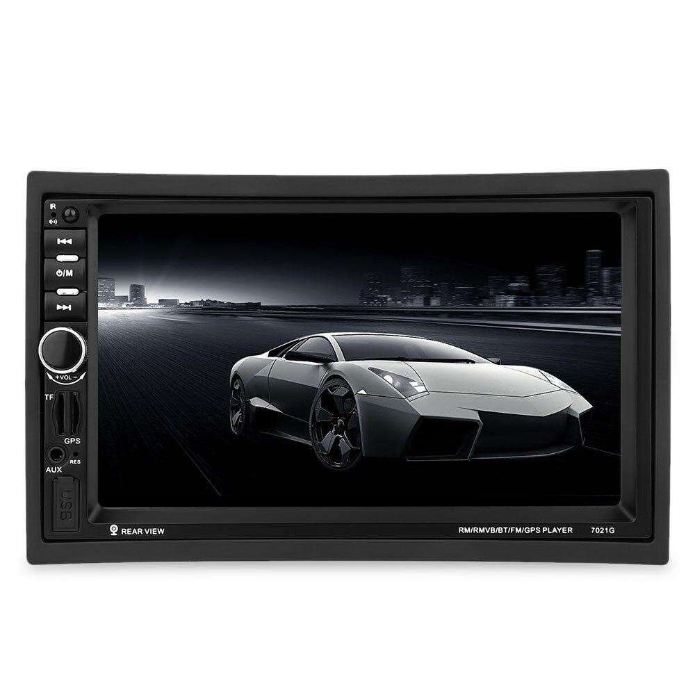 7021G 2 Din lecteur multimédia de voiture avec navigation GPS 7 ''HD Bluetooth Radio stéréo FM MP3 MP5 USB écran tactile Auto électronique
