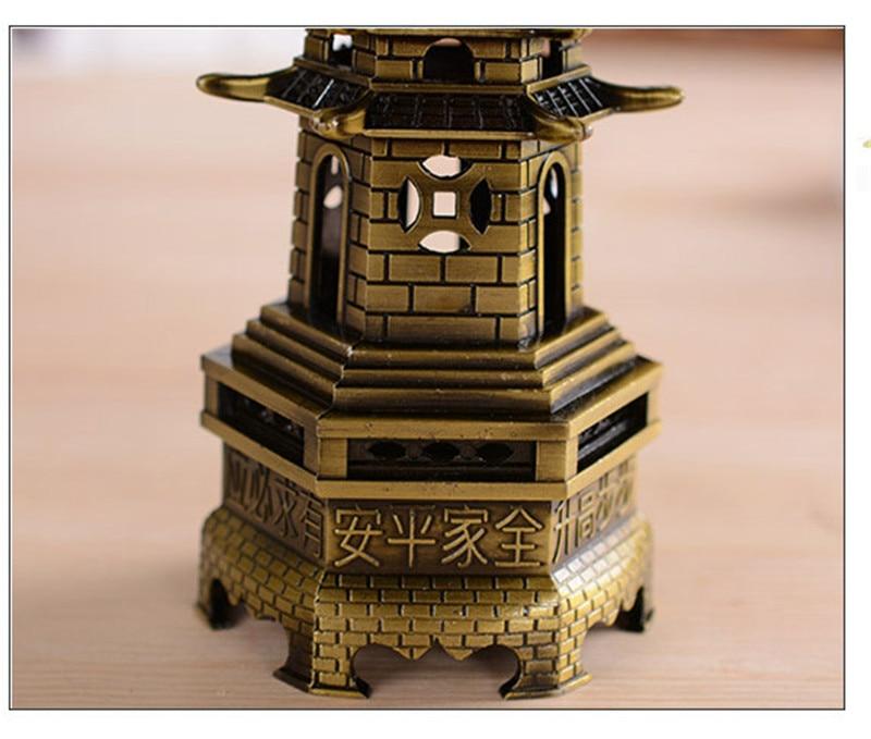 Kitajska Feng shui Wenchang stolp miniaturas kovinski okras obrt - Dekor za dom - Fotografija 4