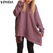 VONDA Maternity Clothes 2018 Spring Summer Women Blouses Shirts Pregnant Casual Loose Long Sleeve Solid Tops Pregnancy Pullovers