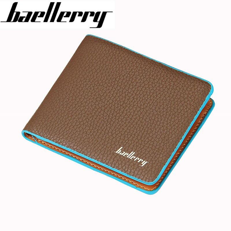 Fashion Designer Men Short Wallet Blue Edge Coin Purses Male PU Leather Student Billfold Money Pocket Credit Card Holder Clips bosch ppr 250 06032a0000