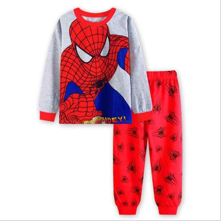 Pigiami del bambino Ragazzi Car Styling Bambini Bambini Da Notte Dei Pigiami Delle Ragazze Pigiama Imposta Bambini Spiderman Superman Batman Indumenti Da Letto