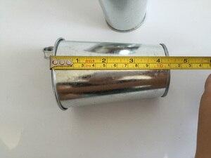 Image 4 - 鉄ぶら下げバケット D8XH15CM ブリキの箱アイアンポットバルコニー植木鉢金属銀色プランター
