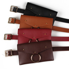 eTya New  Women Waist Bag Fashion Brand Designer  Lady's Pouch Belt Waist Pack Pu Coin Money Wallet Phone Belt Bags