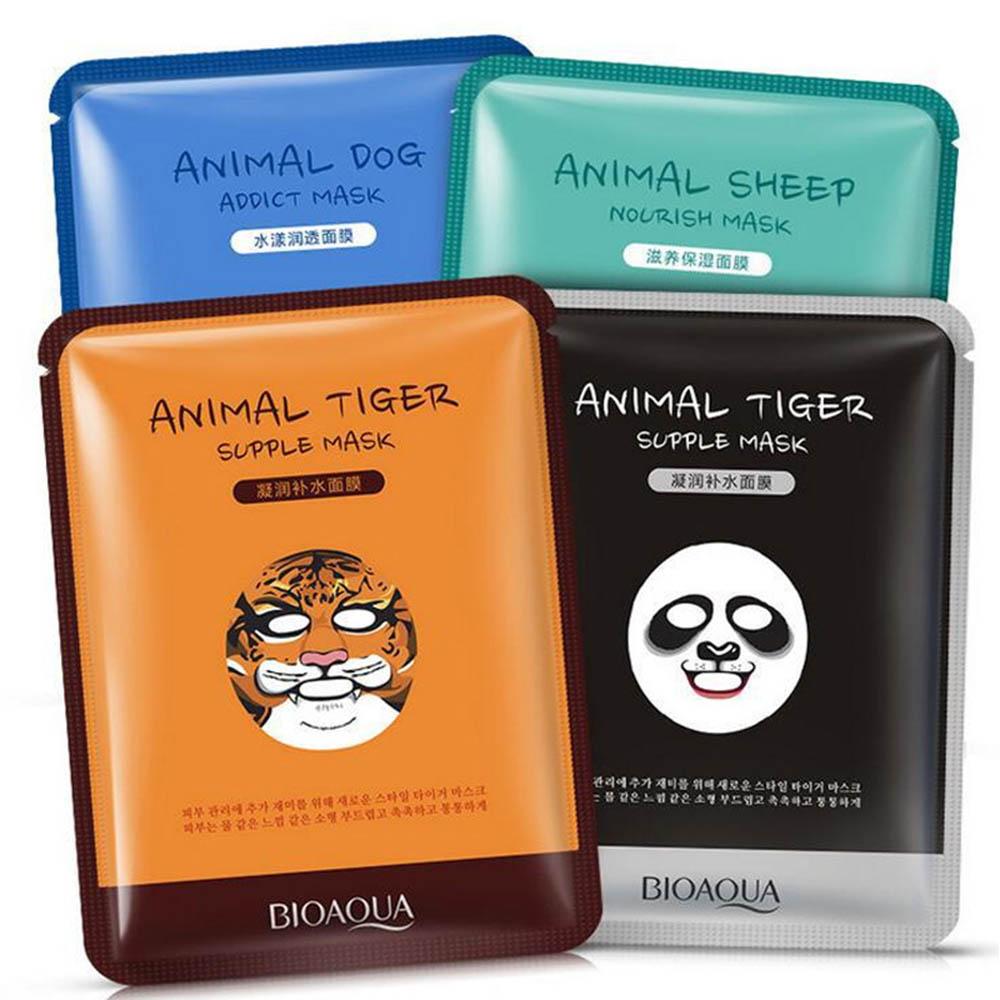 1 pcs Brand New Skin Care Sheep/Panda/Dog/Tiger Facial Mask Moisturizing Depth Replenishment Cute Animal Face Masks