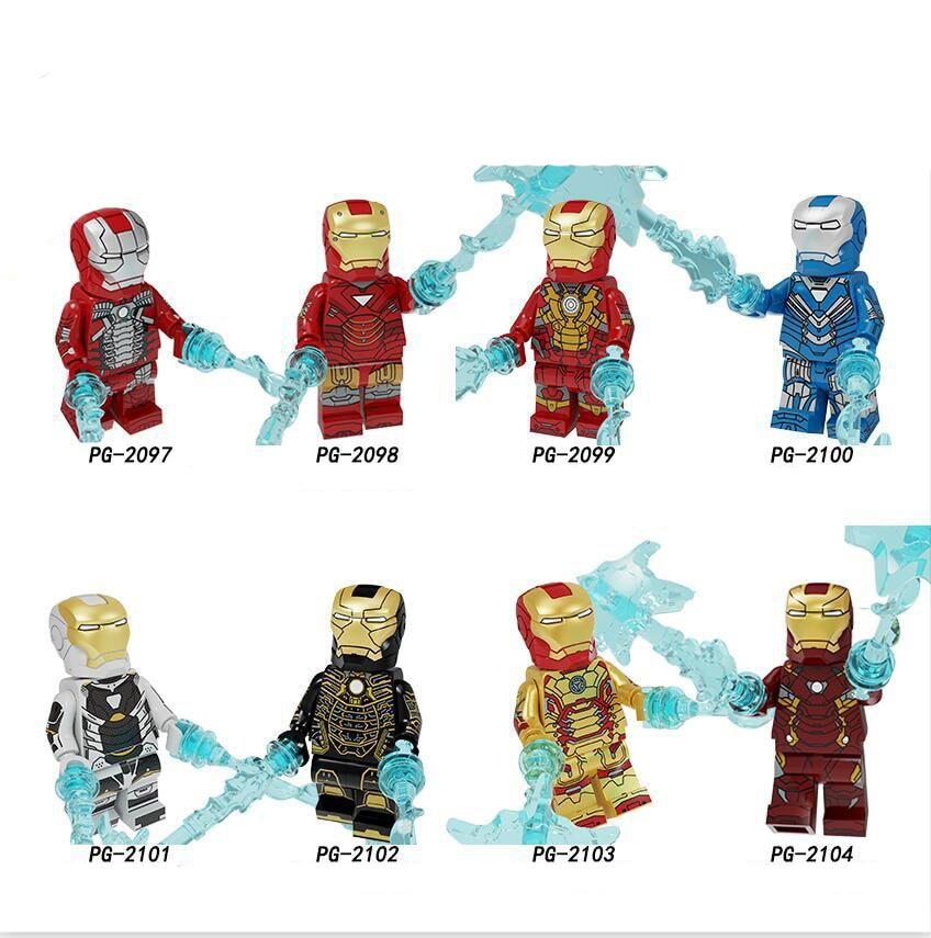 PG8246 Super Hero Series Assembling Building Blocks People MK5MK6MK30 Educational Toys