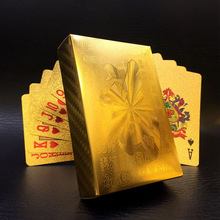 2019 1 SET Golden Foil Plated Normal Playing Cards Poker 52 2 Jokers Special Unusual Birthday Gift