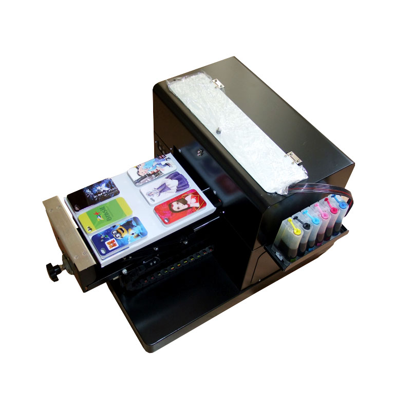 Hot sales A4 Flatbed Printer T shirt Printer inkjet Flatbed Printer for CD /DVD Cards Phone case/T-shirt/Pen/Plastic inkjet id card printting machine automatic inkjet cd printer with 52 trays for id cards and cd