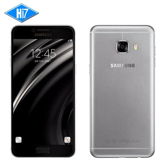 Новый Оригинальный Samsung Galaxy C7 Мобильный Телефон 4 ГБ ОПЕРАТИВНОЙ ПАМЯТИ 32/64 ГБ ROM 16MP Камера 5.7 дюймов Смарт Сотовый Телефон 3300 мАч Android6.0