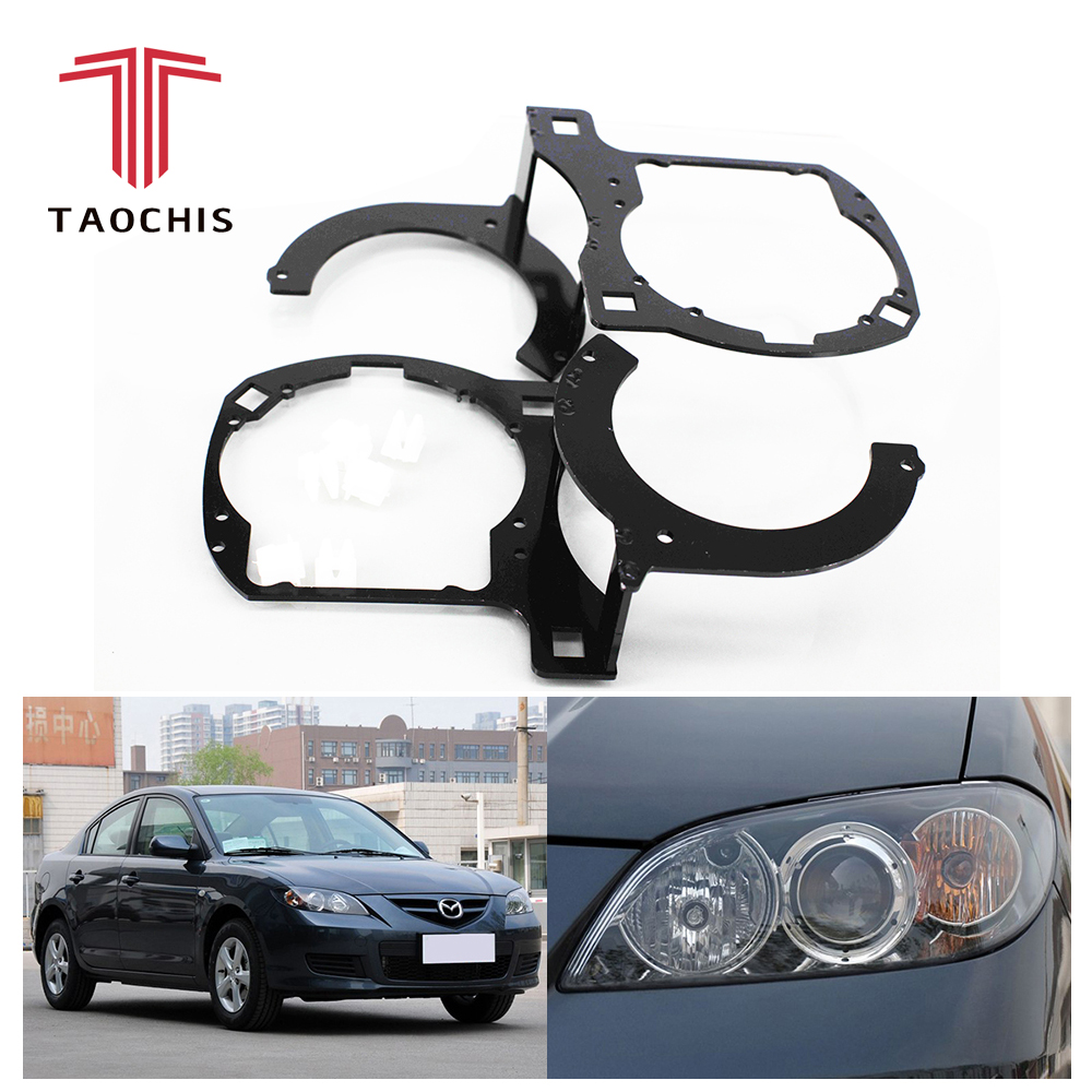 Taochis Car Styling frame adapter module DIY Bracket Holder for Mazda 3 Hella 3 5 Projector
