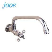 Jooe Кухня кран Настенные водопроводной воды одной холодной кухонный кран Chrome раковина кран Грифо Cocina torneira де Cozinha Banheiro