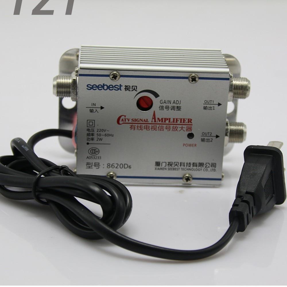 SB 8620D6 2 weg CATV Signal Verstärker Sat Kabel TV Signalverstärker ...