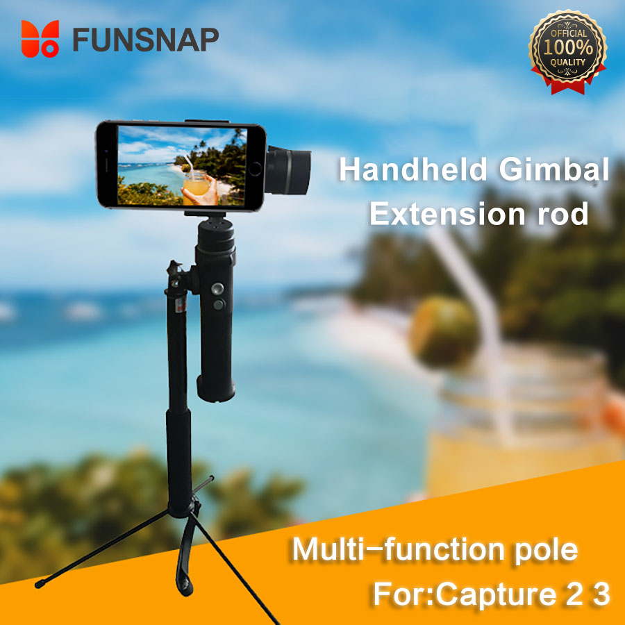 Funsnap Pole Extension Stick Rod Stablizer Gimbal Tripod Camera Holder Mount Gimbal Accessories For Capture 3 2 Extension Pole