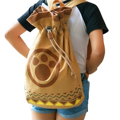 2018 VENDA QUENTE cos Monster Hunter Airou Airu Pata Do Gato Bolsa de Ombro Mochila Cosplay Presente