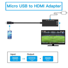 цена на Micro USB To HDMI Adapter Converter 1080P HD HDMI Audio Video Cable TV Monitor for MHL Converter For Samsung HUAWEI HTC Adapter