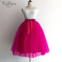 Quality 7 Layers 65cm Maxi Long Tulle Skirt Elegant Pleated Tutu Skirts Womens Vintage Lolita Petticoat