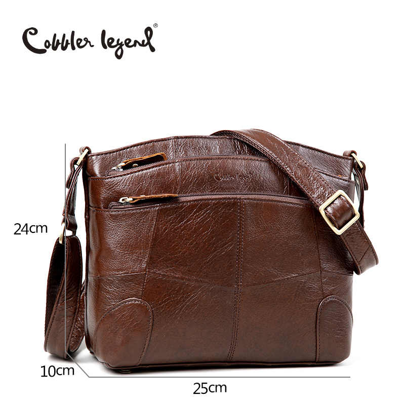 b9feb4be365a Cobbler Legend Genuine Leather Bags for Women Large Capacity Brand Shoulder  Bag Ladies Crossbody Bags 2018 New Handbag Female
