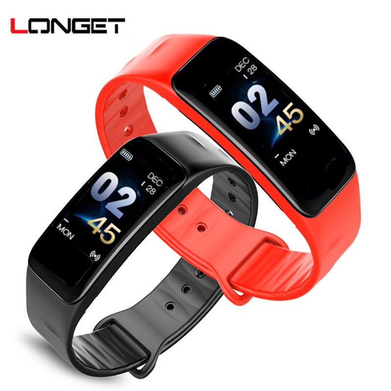 Longet C1s Sport Fitness Tracker Color Screen Band Blood Pressure Heart Rate Monitor Smart Bracelet sleep tracker wristbands цена