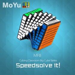 MOYU MF8 8*8*8 magiczna kostka szybkość zawodowa Puzzle 8x8 Cube edukacyjne zabawki prezenty dla dzieci rozwój intelektualny