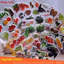 10 Pcs/Lot  Hot sell Vegetable Stickers nursery home decor decals Children stickers for kids Birthday Gift toys