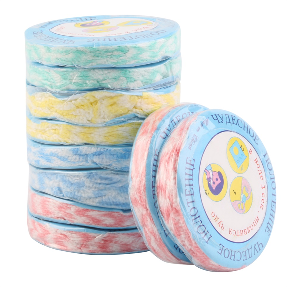 10pcs Portable Compressed Outdoor Travel Face Towel Nonwoven