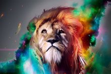 canvas fabric poster custom print lions artwork PDW128 for wall art room decor home decoration (frame available)(China)