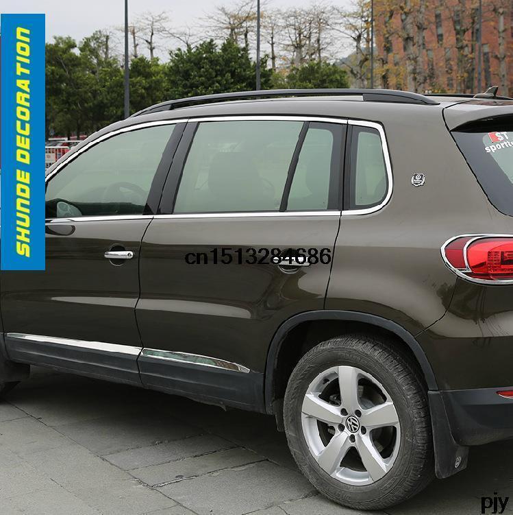 Volkswagen 2015 Tiguan: Car Full Window Stainless Steel Chromium Styling