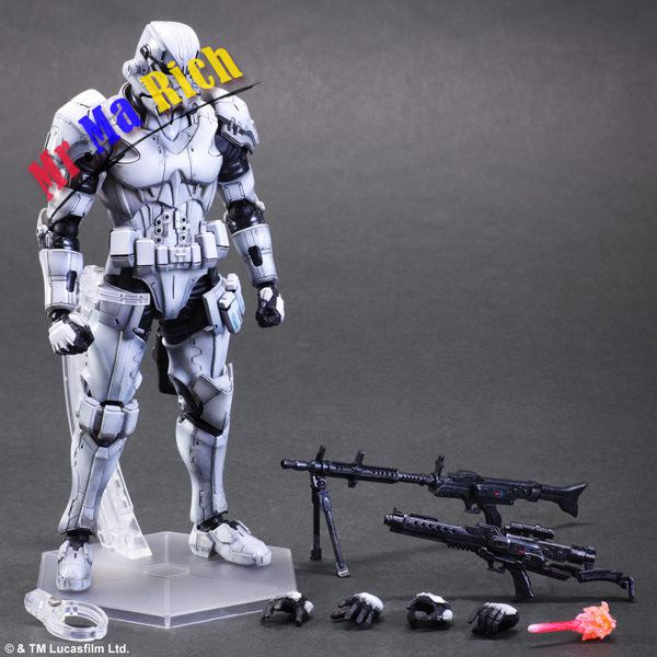 Star Wars Action Figure Toys Play Arts Kai Imperial Stormtrooper Collection Model Anime Star Wars Stormtrooper Playarts playarts kai star wars stormtrooper pvc action figure collectible model toy