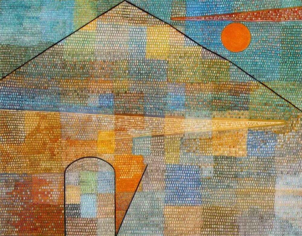 Di alta qualità pittura a Olio Su Tela Riproduzioni Ad Parnassum (1932) di paul Klee Pittura dipinta a mano