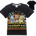 4-12 Years Cotton Kids T-Shirt Cartoon Five Nights at Freddy's Tops Tees For Boys Girls Children Summer Tshirt Gray Blue Black