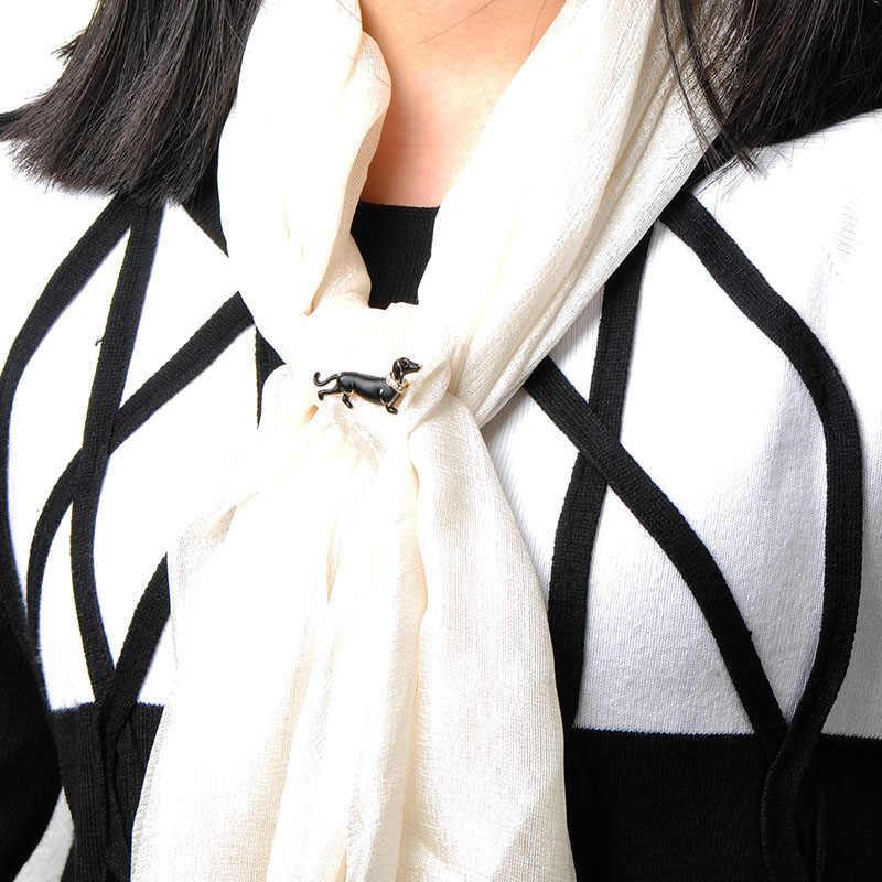 Madrry Sinh Động Hình Chó Thổ Cẩm Cổ Động Vật Trang Sức Thổ Cẩm Nữ Áo Khoác Nam Áo Len Cổ Khăn Choàng Chân Hàng Ngày Phụ Kiện Quà Tặng