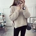 2016 Осень зима свитер женщин с длинным рукавом свободные пуловеры женский потяните femme блузка