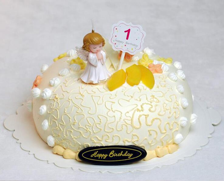 1 Lovely 4 Styles Angel Baby Birthday Cake Small Candle Gift