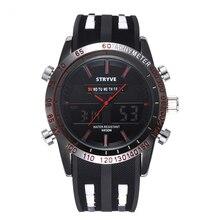 Купить с кэшбэком STRYVE men watches Luxury Watches New digital 3ATM Waterproof Men's Big Dials Relojs Wristwatches Hot Sales Men's Army Watch