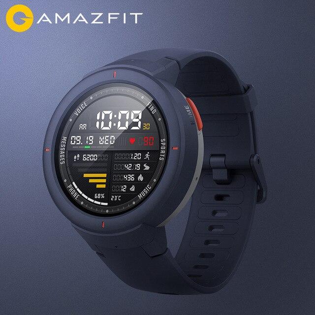 Version anglaise Xiaomi Huami Amazfit Verge montre Sport intelligente 1.3 pouces AMOLED écran GPS capteur HR répondre aux appels IP68 étanche-in Montres connectées from Electronique    1