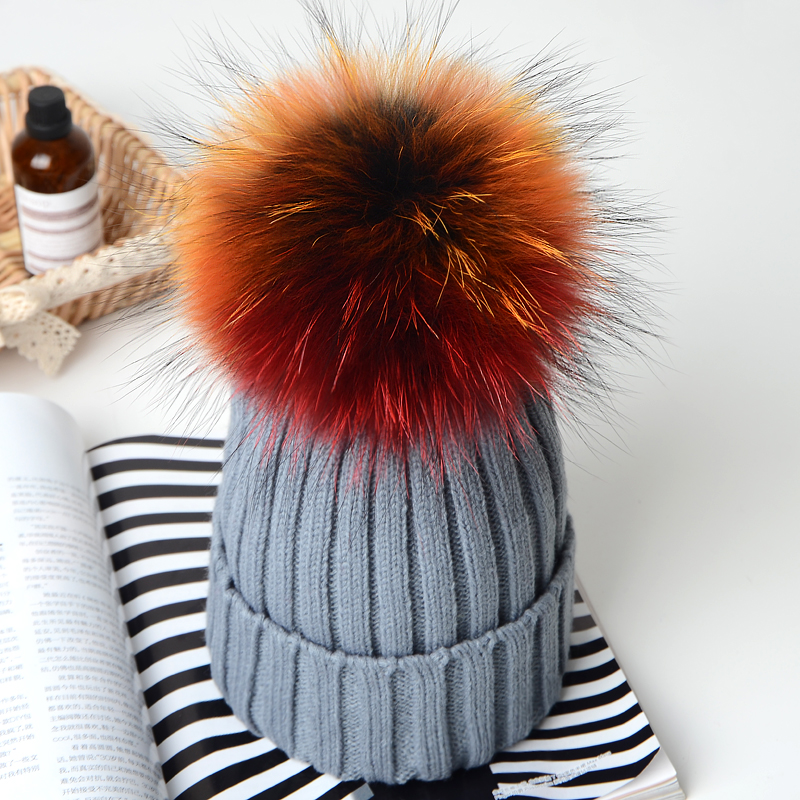 1 6years girls boy Knit Hat multicolor Fur Pom Pom Hats Beanies Cap For  Baby Wool Winter Knitted Hats With Fur PomPom Hats Kids-in Skullies    Beanies from ... 63b441014f0