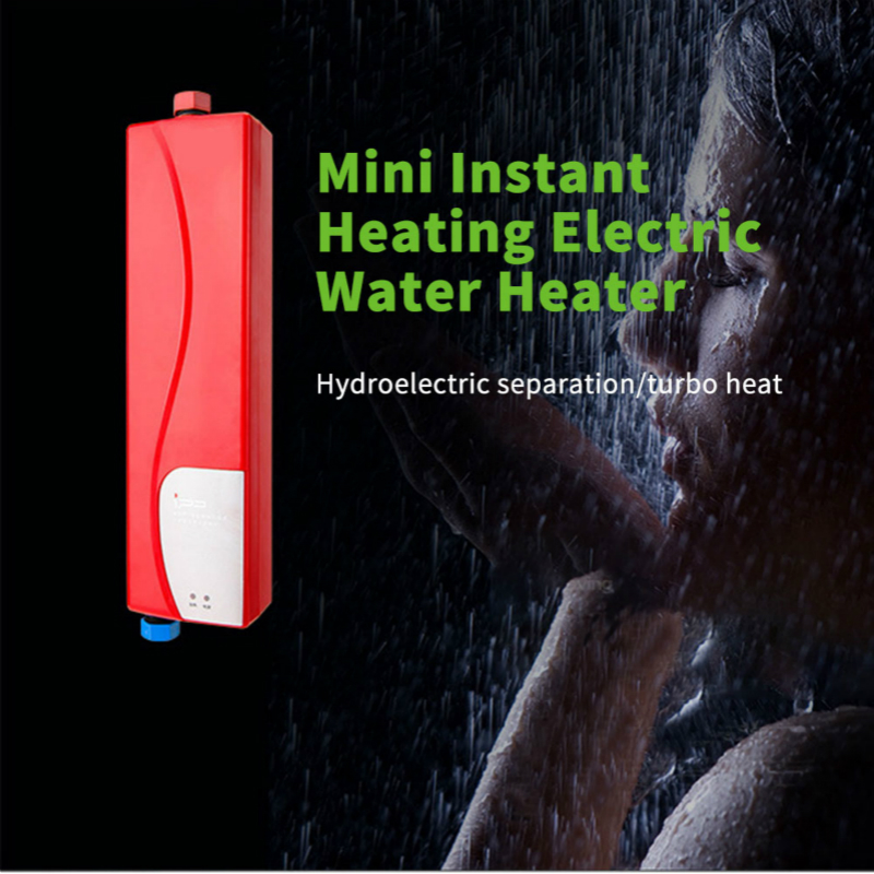 Adoolla Instant Electric Mini Tankless Water Heater Hot Instantaneous Water Heater System For Kitchen Bathroom