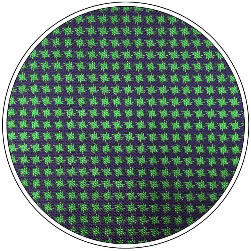 F24 Green Blue Houndstooth Ties for Men Silk 63 quot Slim 6cm Tie Pocket Square Set in Men 39 s Ties amp Handkerchiefs from Apparel Accessories
