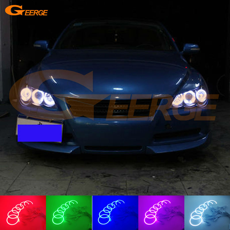 Фото For Toyota Mark X Mark-X REIZ 2004-2009 Excellent Multi-Color Ultra bright RGB LED Angel Eyes kit Halo Rings