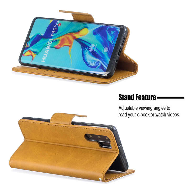 Deri Flip Case Huawei P30 P20 P10 Por P9 Lite Mini P8 Lite 2017 Mate 10 20 Lite Pro P akıllı artı 2019 cüzdan kapak Coque