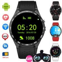 Android 5.1 KW88 Smart Uhr GPS/WCDMA/Wifi Armbanduhr Sim-karte Intelligente Uhr Bluetooth 4,0 400*400 Smartwatch Herzfrequenz
