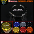 Motorcycle CNC Aluminum Rear Brake Fluid Reservoir Cover Cap For Kawasaki Z1000 07 2008 2009 2010 2011 2012 2013 2014 2015 2016