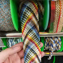 Yarn-dyed 4cm Cotton Webbing DIY Sewing Webbings Double-sided Ribbons Decorative Fabric Braid colorful