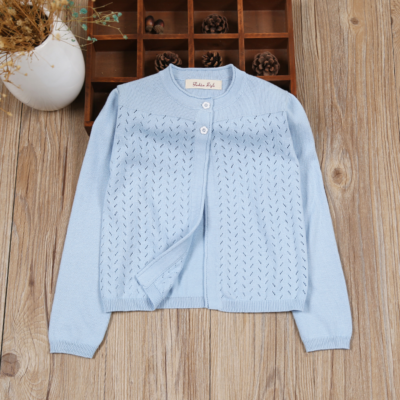 US $9.87 49% OFF|Children Girls Cardigan Sweater Blue Long Sleeve Jacket Girls Coat For 1 2 3 4 6 8 10 11 Years 2020 Kids Clothes RKC185032|girls