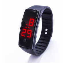 2018 Fashion Silicone LED Digital Watches Bracelet Wristwatch For Men Ladies Kid