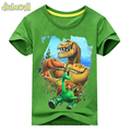 2017 Summer Boy Girl Dinosaur Pattern Short SleeveS T-Shirt Kids 100%Cotton White shirts For Kids Cartoon Print Clothes ACY003