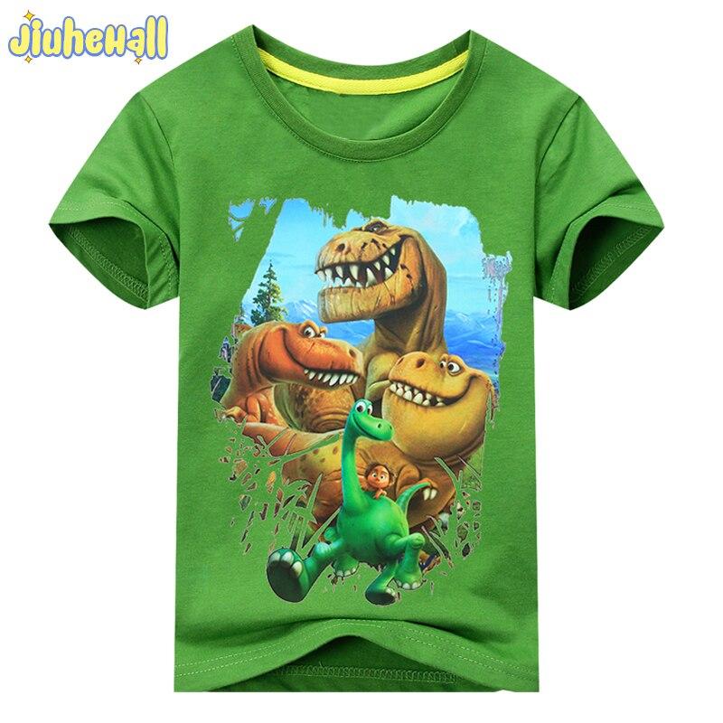 2017 Zomer Jongen Meisje Dinosaurus Patroon Korte Mouwen T-shirt Kids 100% Katoen Wit Shirts Voor Kids Cartoon Print Kleren Acy003 Bekwame Vervaardiging