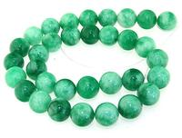 Unique Pearls jewellery Store 12mm Green Jade Round Gemstone Loose Beads One Full Strand 15 inches LC3 0261