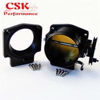 Intake Throttle Body+ Adapter Plate Fits For GEN III LS1 LS2 LS3 LS6 LS7 LSX 92mm