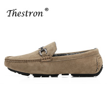 Купить с кэшбэком 2018 Winter Driving Shoes for Man Brand Casual Shoes Leather Lazy Men Shoes Luxury Brand Gray Brown Blue Cashmere Loafers Flat