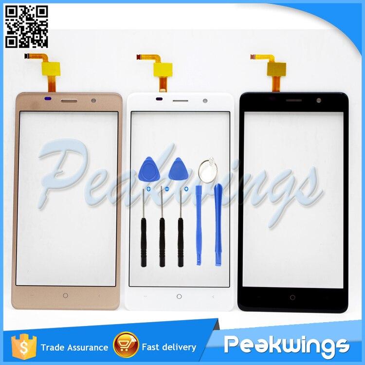 """imágenes para Blanco y negro y Oro 5.0 """"pulgadas Táctil Para BQ BQS-5022 BQS bono del 5022 Pantalla Táctil Del Digitizador Panel + 3 M Sticker + Herramientas"""